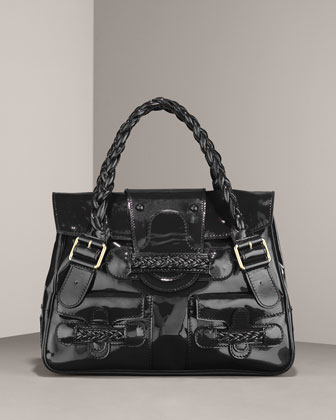 Valentino Braided Leather Shoulder Bag 63