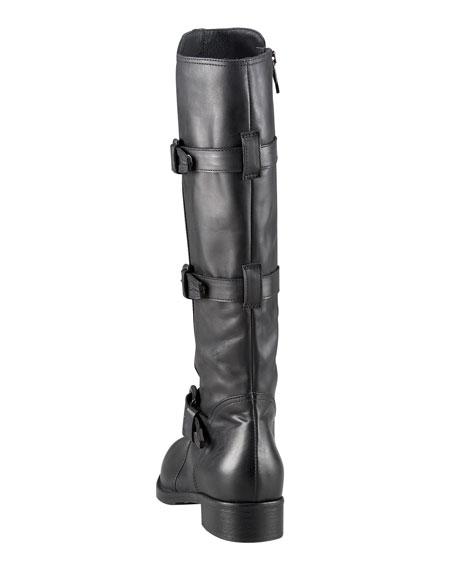 Triple-Buckle Knee Boot