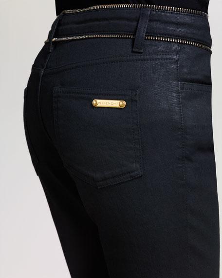Zip-Trim Skinny Jeans