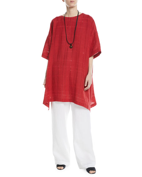 Drawstring Linen Trousers
