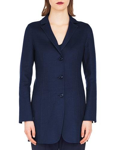 Buttoned Cashmere Jacket