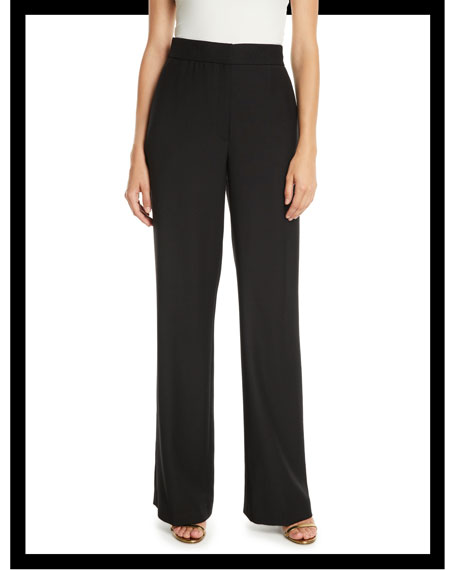 High-Waist Straight-Leg Heavy Wool Pants