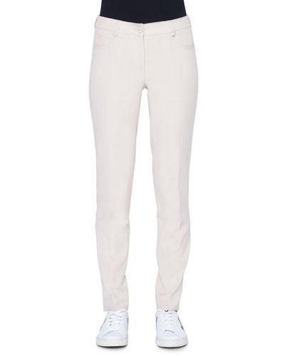 Magda 5-Pocket Slim Cotton/Silk Pants