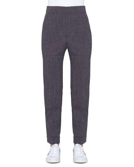 Chris Cuffed Stretch Wool Crepe Pants