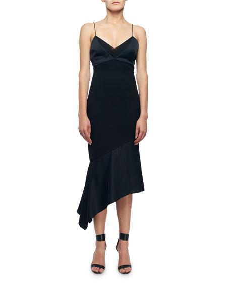 Cami-Top Asymmetric Slip Dress