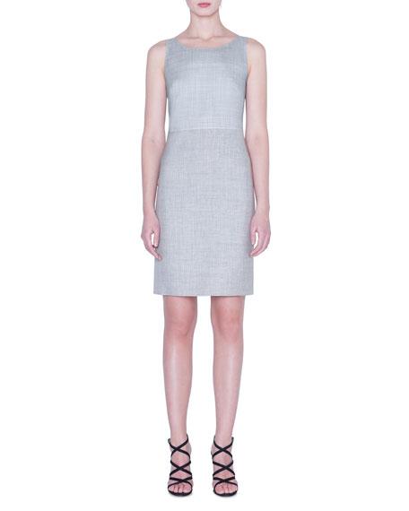 Lightweight Wool Sleeveless Sheath Dress