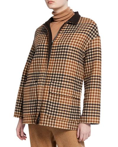 Giubb Cashmere Scotland Argyle Belted Sweater