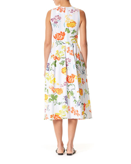 Sleeveless Floral Midi Dress