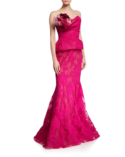 Corded Lace Fit & Flare Gown