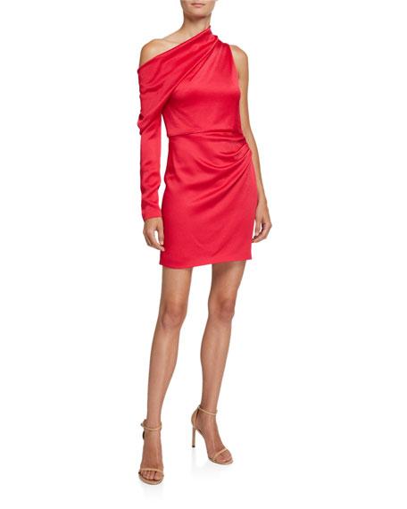 Jersey Asymmetric One-Shoulder Dress