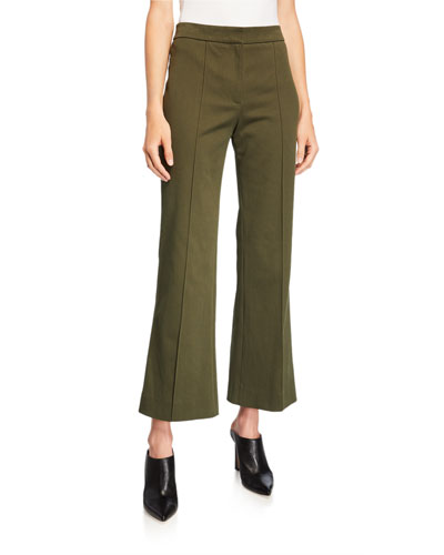 Cropped Flare-Leg Trousers