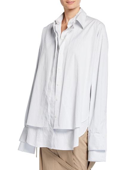 Oversized Poplin Double Shirt