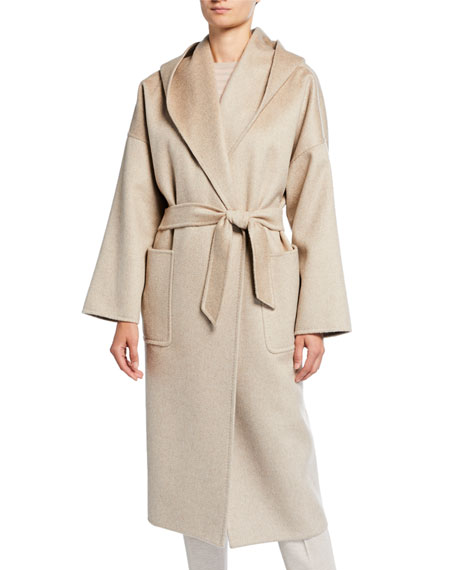 Marilyn Cashmere Hooded Coat