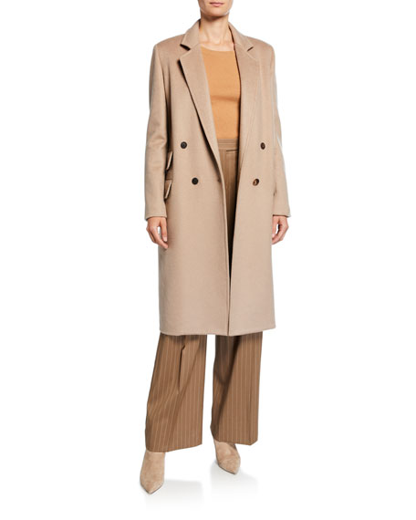 Andrea Cashmere Double-Breasted Coat