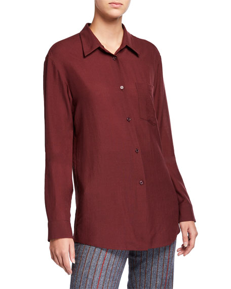Reyes Wool-Cashmere Button-Front Shirt