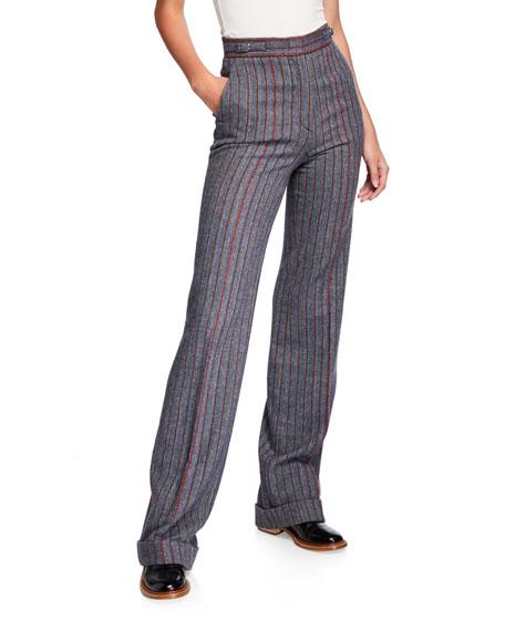 Shipton Herringbone Stretch Wool-Cashmere Trousers