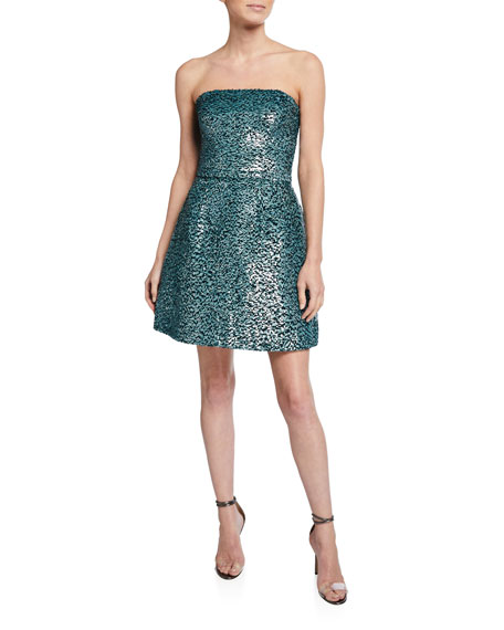 Strapless Sequin Party Dress