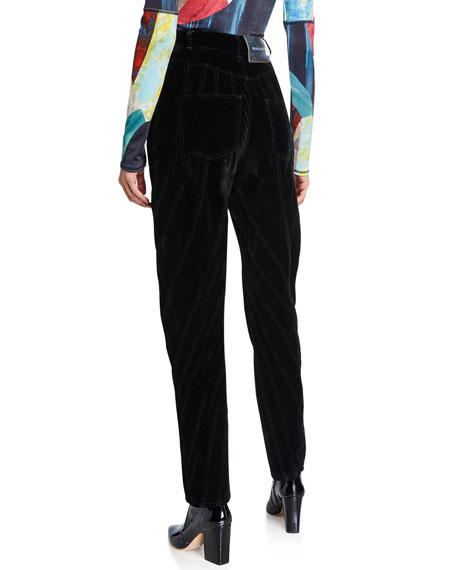 Velvet Seamed Skinny Pants