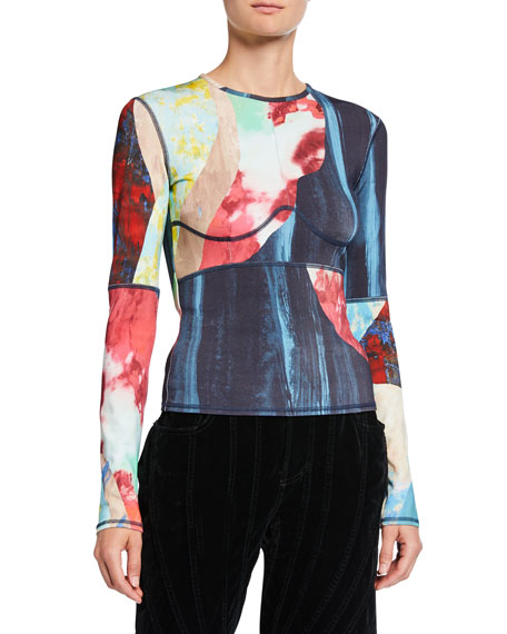 Printed Jersey Long-Sleeve T-Shirt