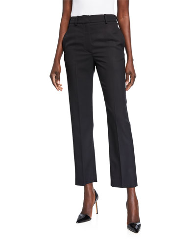 Michael Wool Cropped Cigarette Trousers