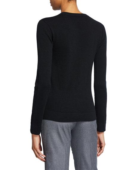Cashmere Tubular-Finish Crewneck Sweater