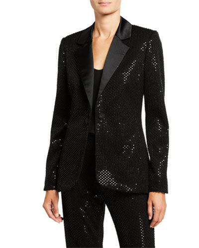 Beaded & Sequin Embroidered Jacket