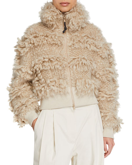 Mohair and Wool Bomber Jacket