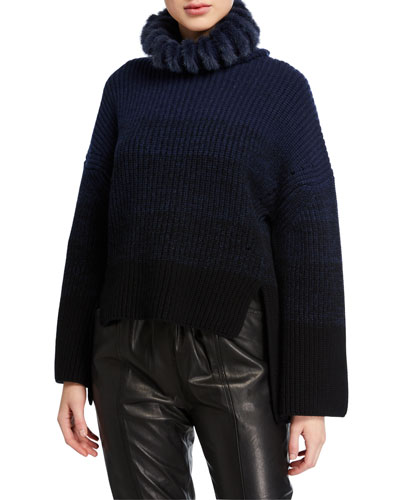 Ribbed Ombre Knit Sweater