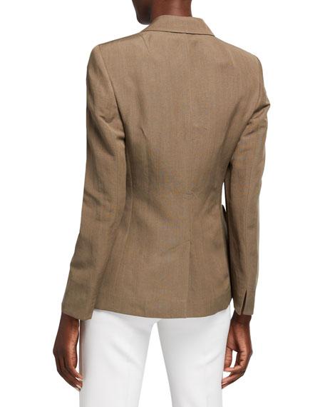 Long One-Button Blazer Jacket