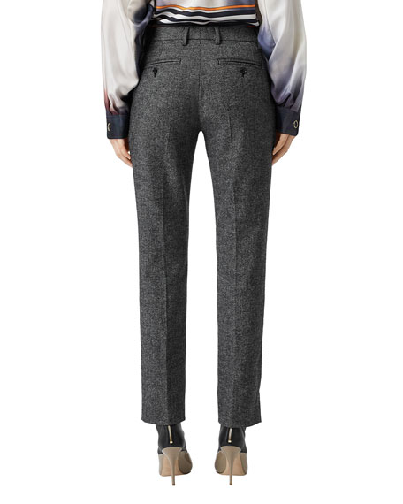Cropped Wool-Blend Trousers
