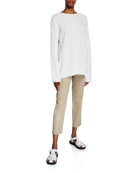 Clark Cotton Slim-Leg Ankle Pants