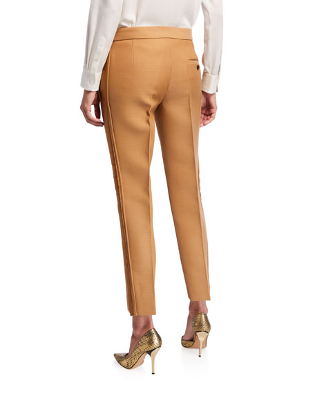 Dry Wool Scuba Satin Tuxedo Pants