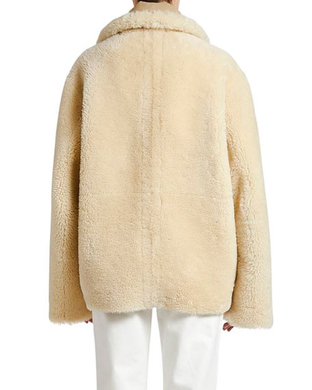 Reversible Shearling Zip-Front Jacket