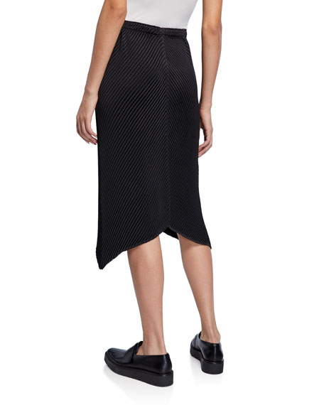 Glow-Pleated Handkerchief Skirt