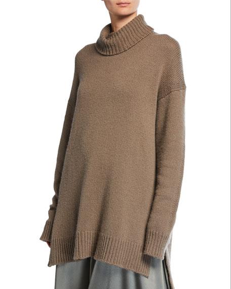 Cashmere Trapeze Turtleneck Sweater