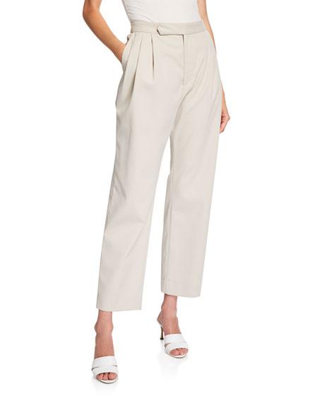 Isabella Pleated Repellant Twill Pants