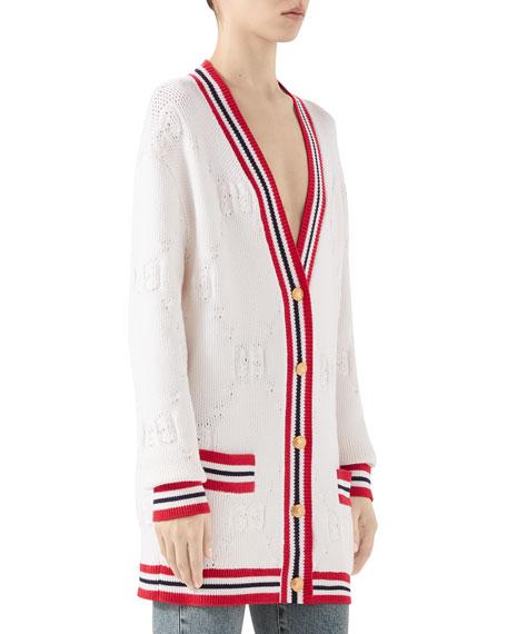 GG Knit Elongated Cardigan