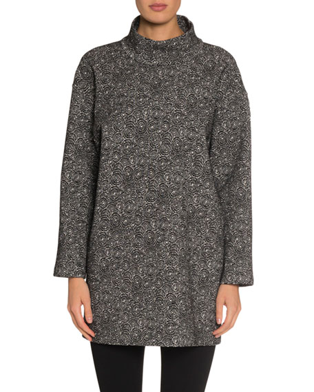 Spider Floral Jacquard Tunic