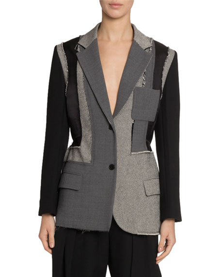 Patchwork Tailored Jacket