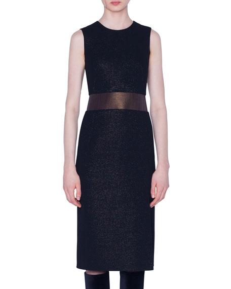 Wool Crepe Sleeveless Dress
