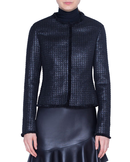Lacquered Tweed Jacket