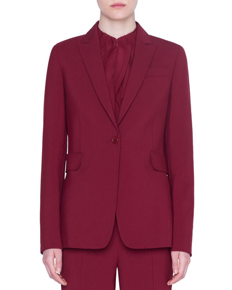 Classic Crepe Two-Button Jacket