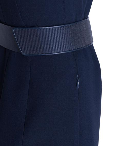 Double-Face Wool Wrap Dress