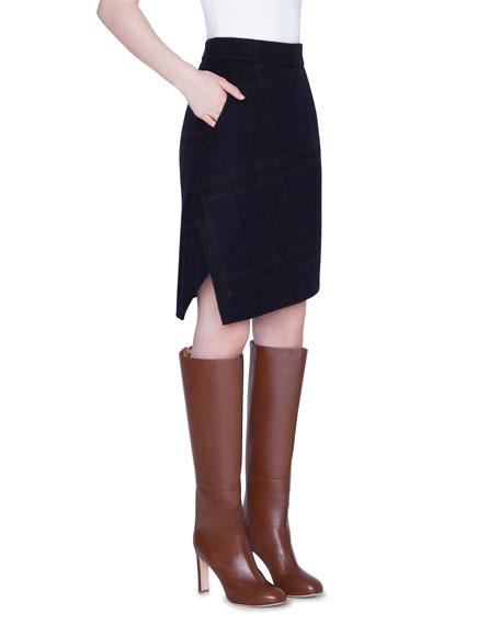 Cashmere Plaid Double-Face Skirt