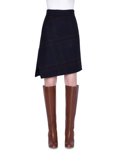 Cashmere Plaid Double-Face Skirt