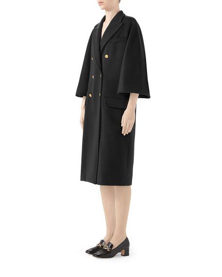 GG Jacquard Wool Coat
