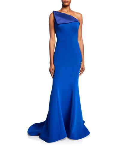 One-Shoulder Mermaid Gown