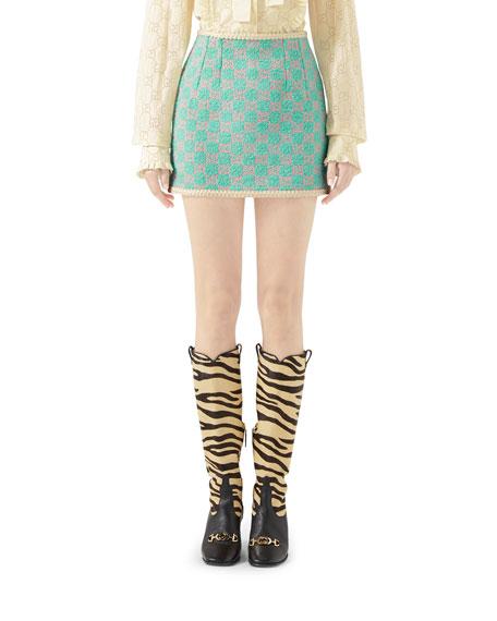 Macro GG Tweed Skirt