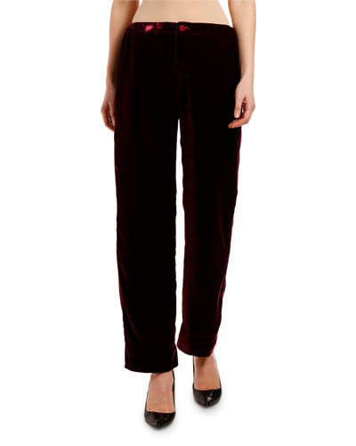 Velvet High-Rise Ankle Length Pants