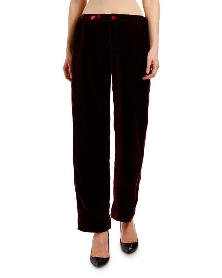 Velvet High-Rise Ankle Length Pants